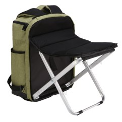 Green Fishing Chair Folding Adirondack Chairs Ace Hardware Multi Functional 20 35l Portable Stool Backpack Travel