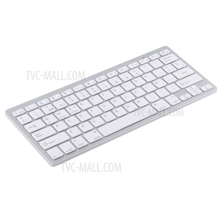 Ultra-Slim Wireless Bluetooth Keyboard (Spanish Language