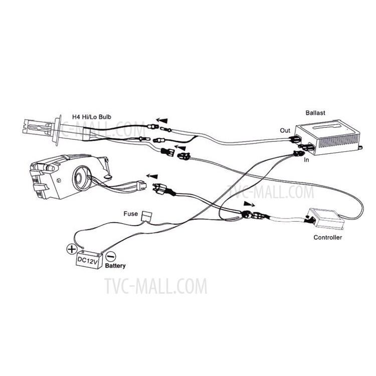 55W HID Xenon Conversion Kit Ballast Conversion Bulbs H1