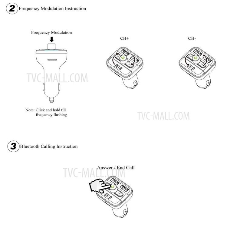 BT20 Bluetooth Car Hands-free FM Transmitter + Dual USB