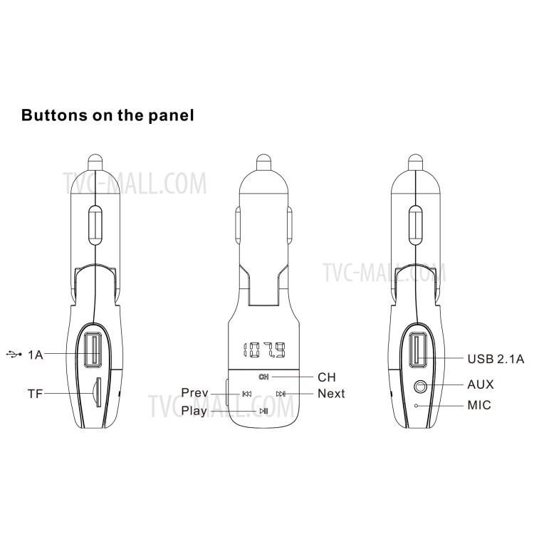MP16 Handsfree Wireless Bluetooth Music Player Dual USB