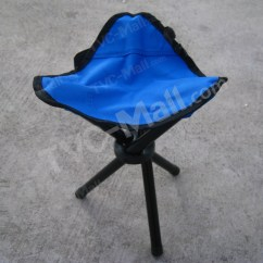 Fishing Chair Legs Posture Fixer Foldable Portable With 3 For Outdoor Camping Blue 1