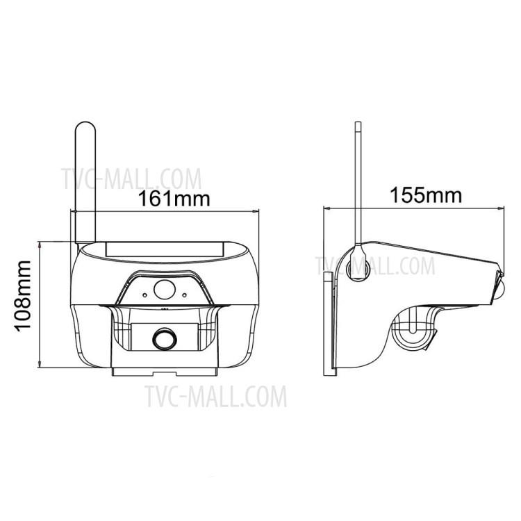FREECAM Solar Powered Wireless WiFi Security Camera 720P
