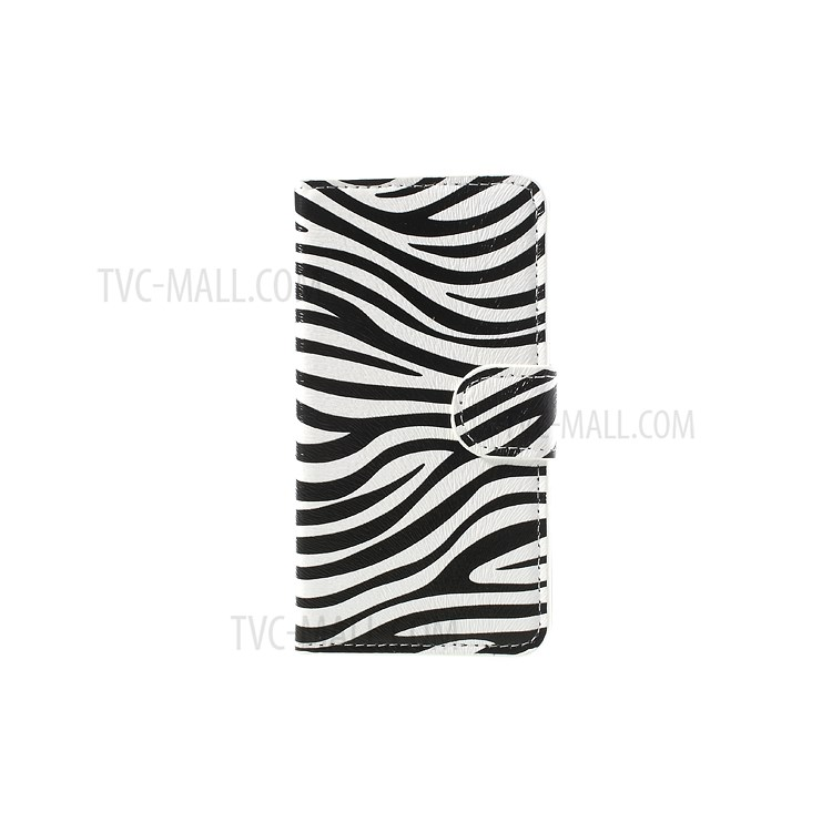 Zebra Design Leather Wallet Case Cover for Samsung Galaxy