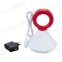 Romantic Diamond Ring Shaped Mood Lamp Night Light - Red