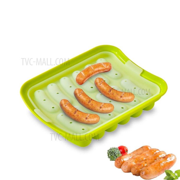 silicone sausage mold non stick hot dog mold finger shaped molds diy homemade sausage baking utensils for oven and microwave green