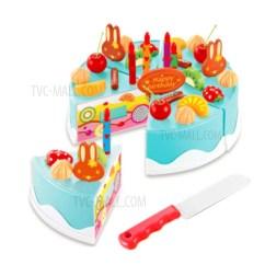 Kids Kitchen Toys Wall Art For Children Diy Cutting Birthday Cake Pretend Play Food Blue Tvc Mall Com