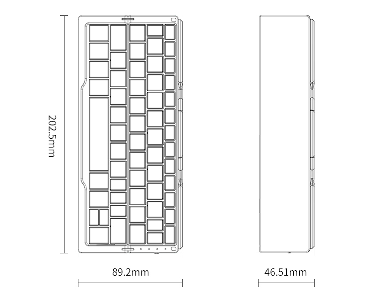 BOW HB199 Foldable 3-Channel Bluetooth Keyboard for iPad