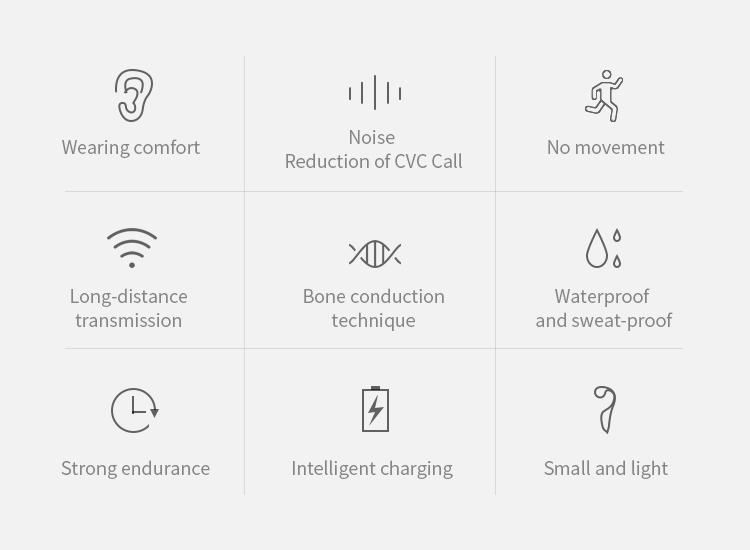 V9 Headphones Bluetooth 5.0 Bone Conduction Headsets