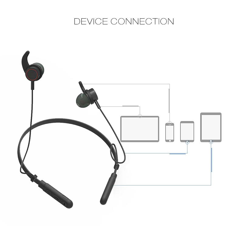 M9 Neck-band In-ear Magnetic Wireless Bluetooth 4.2 Stereo
