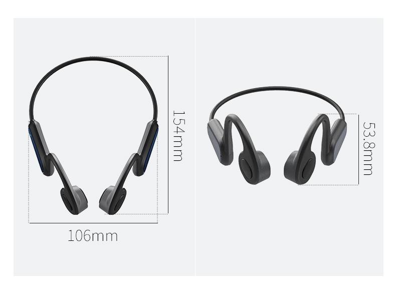 A9 Bone Conduction Headphones Wireless Bluetooth Sports