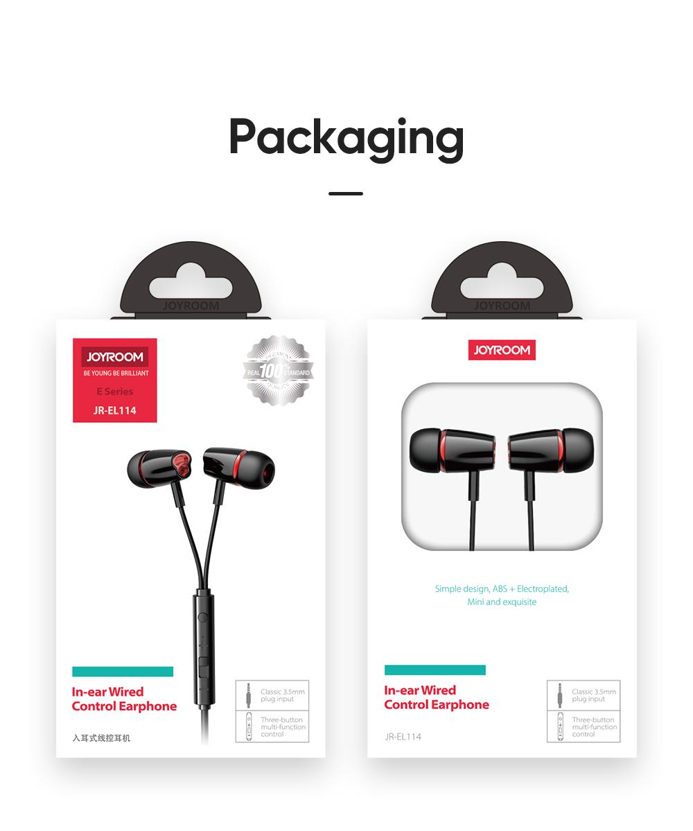 Shop JOYROOM 3.5mm Wired In-ear Earbud Earphone with