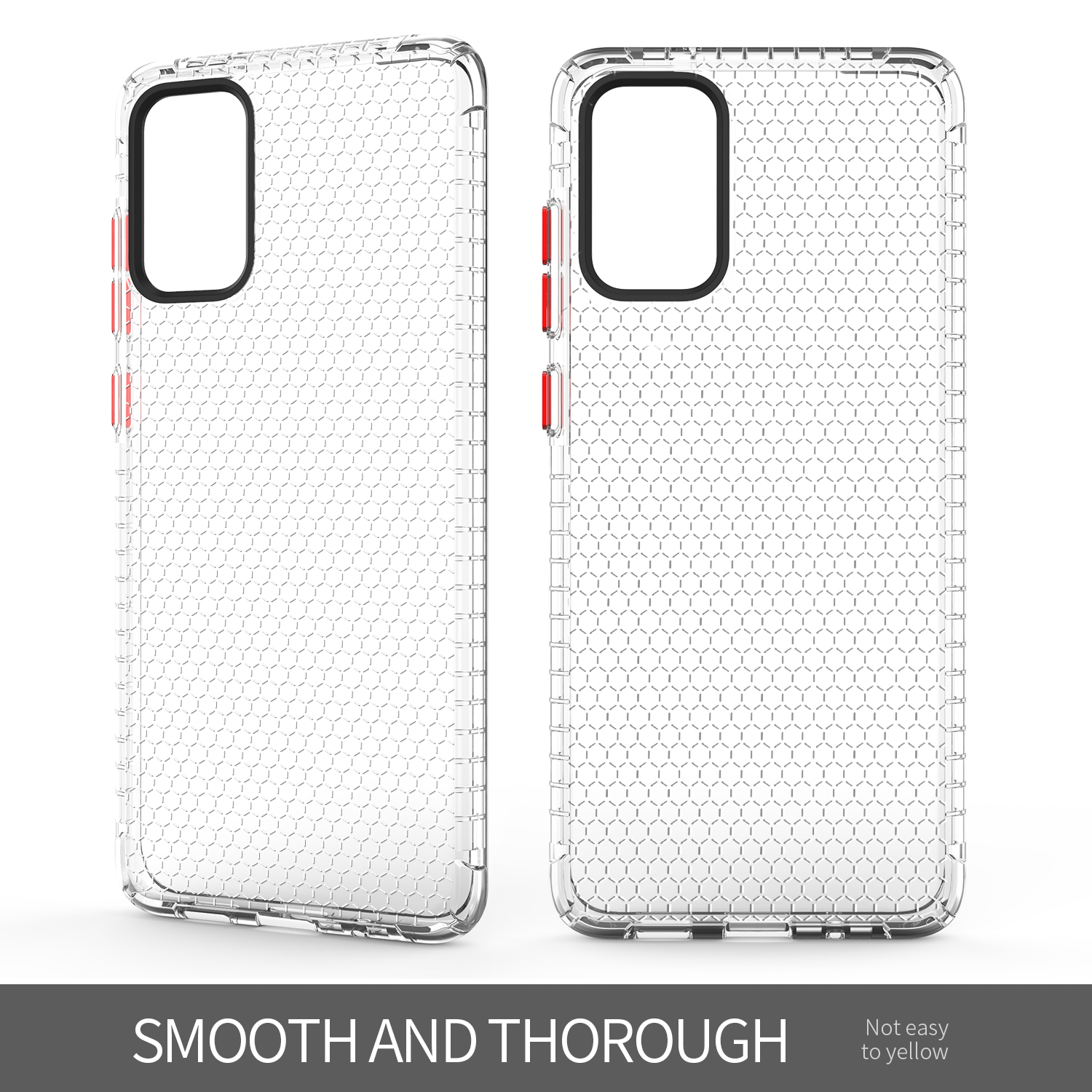 Honeycomb Transparent Simple TPU Phone Shell for Samsung