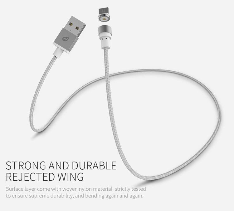 WSKEN Round Magnetic Micro USB Charging Cable 1M (Only for