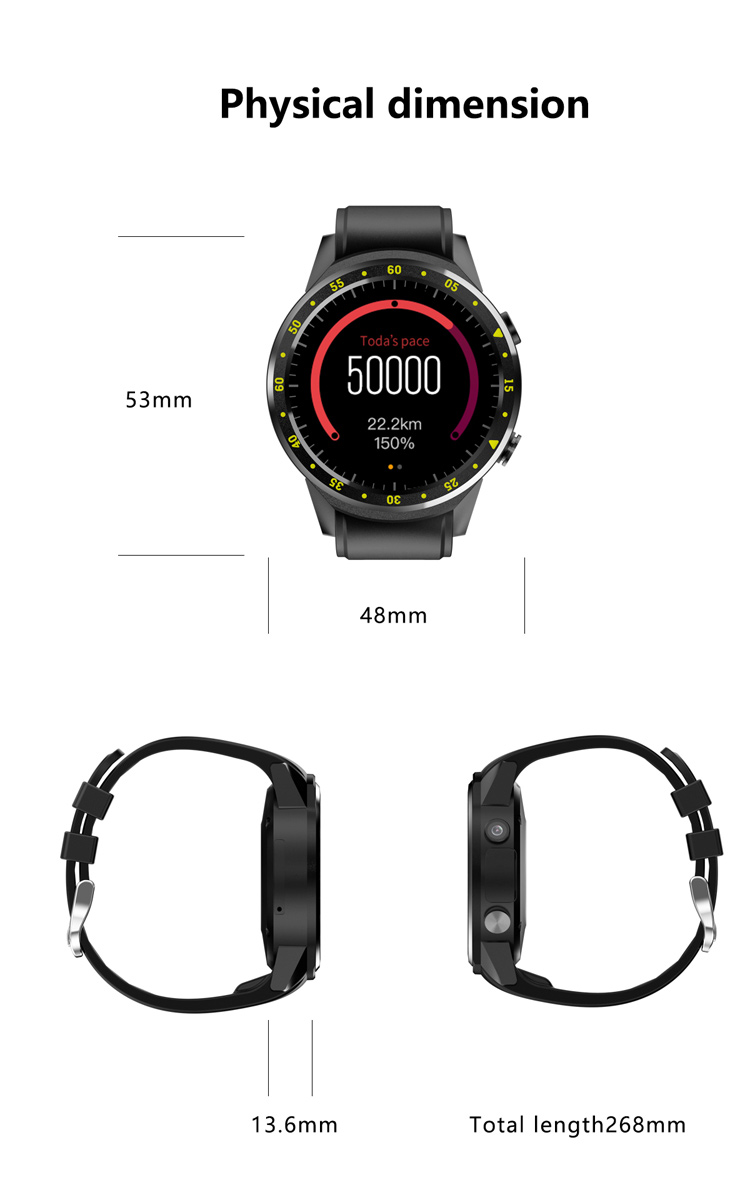 F1 1.3-inch Bluetooth Smart Watch Android Phone MTK2503