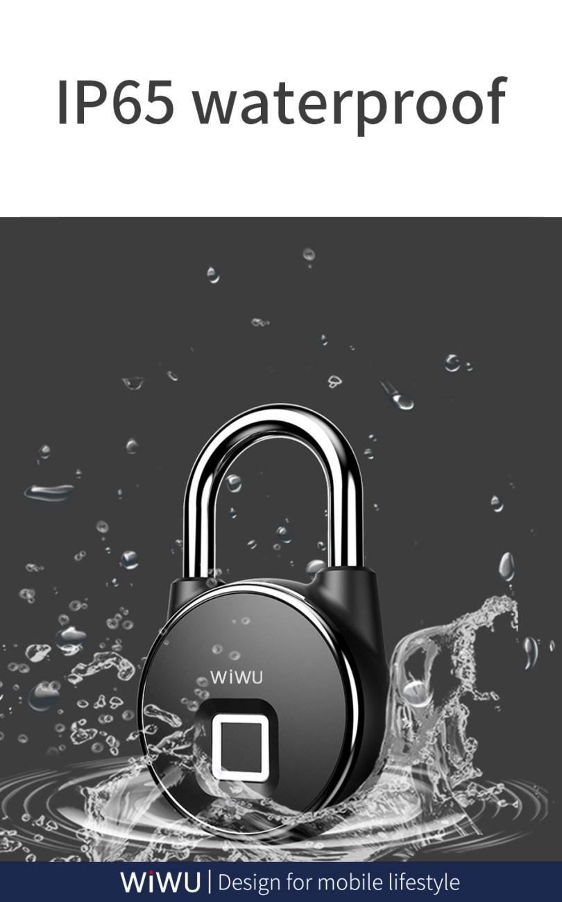 WIWU S5 Fingerprint Padlock For Door Bycycle Bag Cabinets