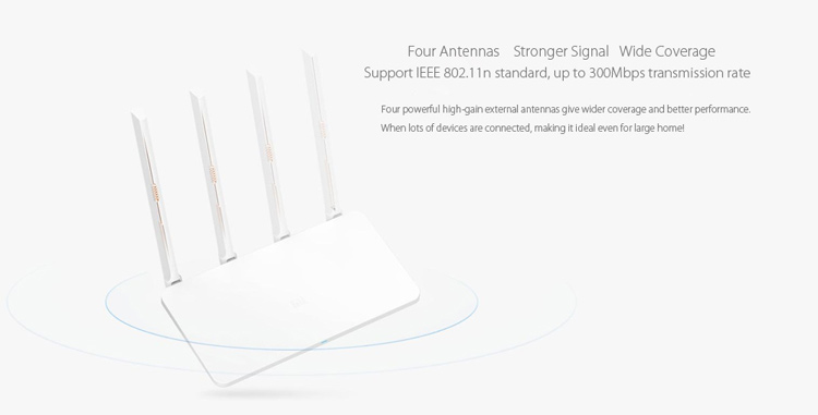 XIAOMI MI 300Mbps 2.4GHz WiFi Router 3C Signal Booster con