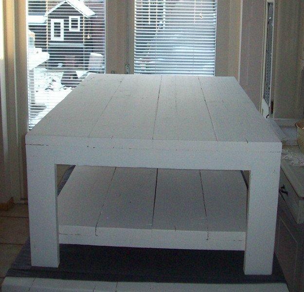 Salontafel 70x70 White Wash te Koop Aangeboden op