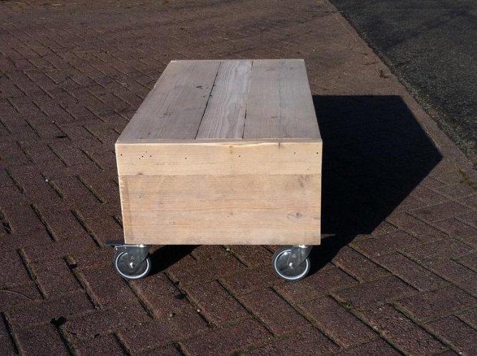 Salontafel Wielen Steigerhout te Koop Aangeboden op