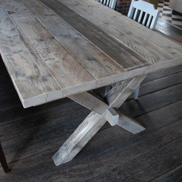 Tafel In Gebruikt Steigerhout 10 Korting te Koop