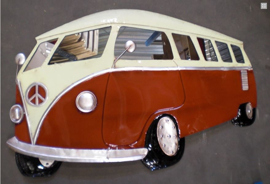 Metalen 3D Wand Decoratie Mini  Eend  Kever  Motor  VW