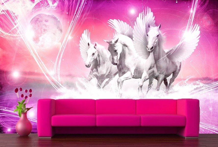 Paarden Behang Fotobehang  Muurdeco4kids te Koop