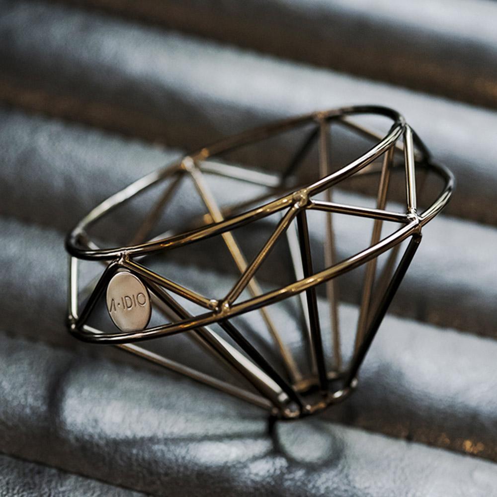 A-IDIO 鑽石咖啡濾杯(曜石黑)   有.設計 uDesign