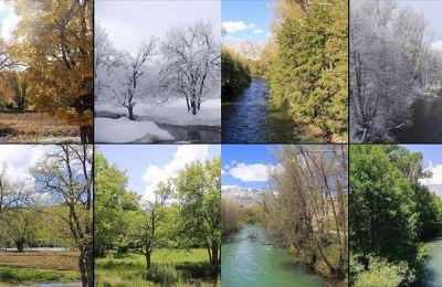 Ovacık 4 mevsim fotoğraflarıyla büyülüyor