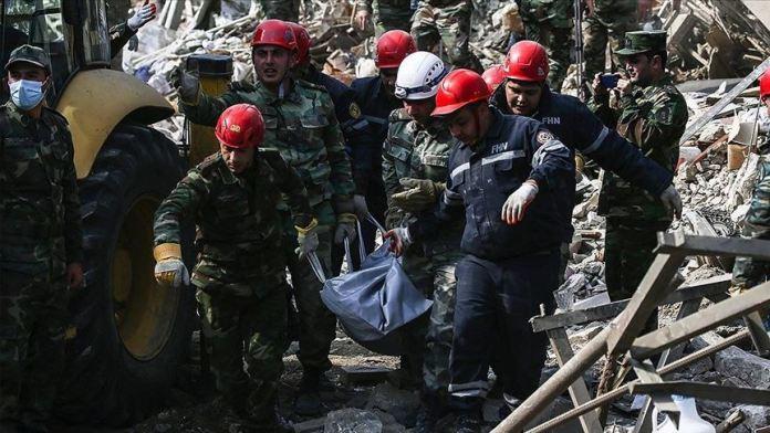 Ermenistan'ın Gence'deki sivilleri 'orta menzili balistik füze Elbrus' ile vurduğu belirlendi