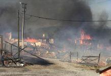 Bolu'da köyde bir evde çıkan ve çevredeki evlere sıçrayan yangın kontrol altına alındı