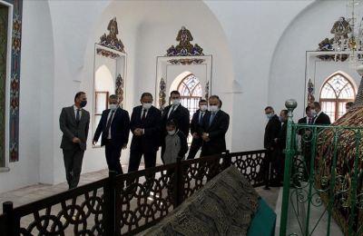 AK Parti'li Özhaseki, restorasyonu tamamlanan Yıldırım Bayezid Türbesi'nin açılışını yaptı