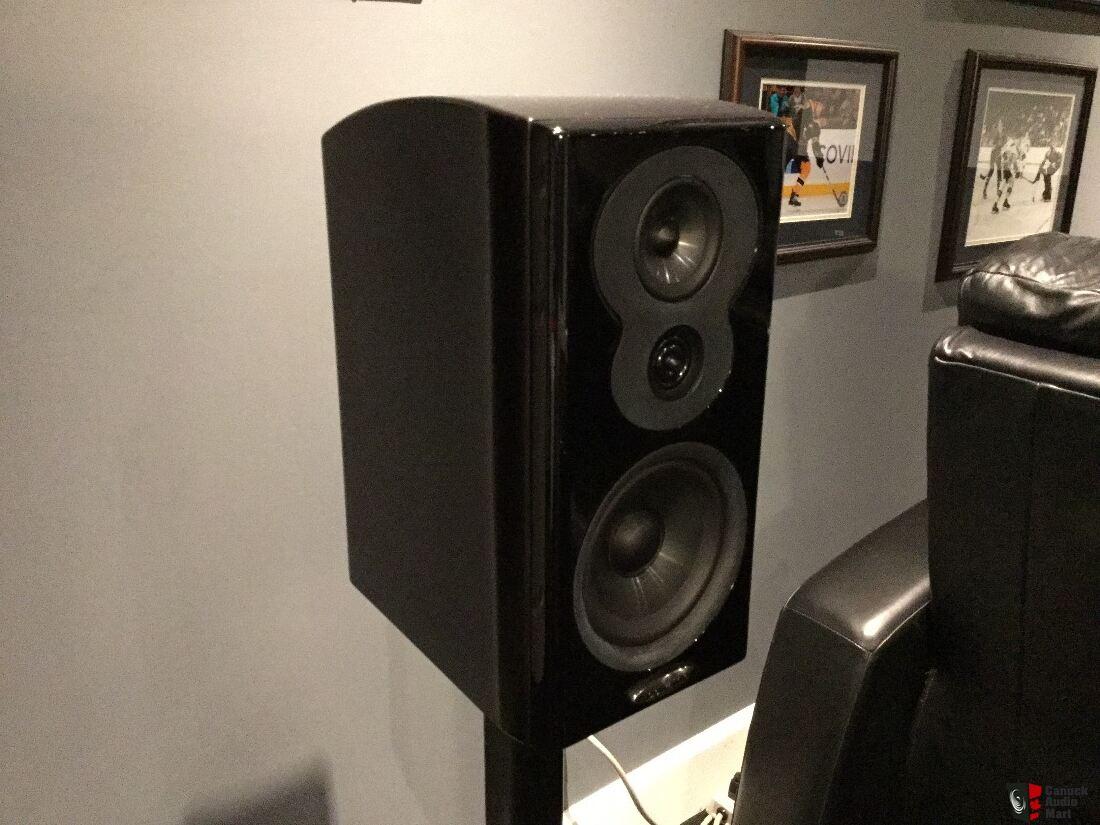reduced! polk lsim 703 3 way bookshelf speakers! photo #1153252 - us