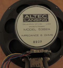 qty of 2 vintage altec lansing model 5382a 8 [ 1100 x 825 Pixel ]