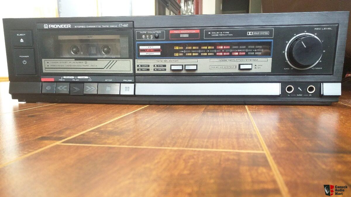 hight resolution of pioneer stereo cassette tape deck ct 660
