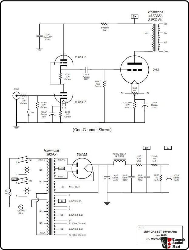 Custom Built 2A3/300B Tube Single-Ended Stereo Amplifier