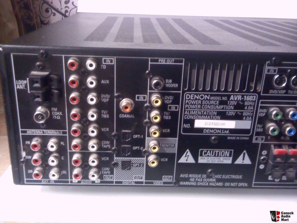 Denon Avr 1603 Manual Auto Electrical Wiring Diagram 1channel Amp