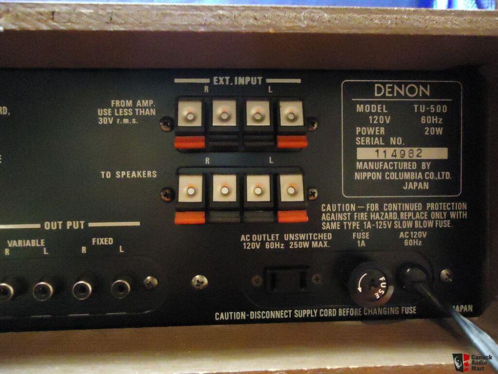 medium resolution of denon tu 500 tu500 fm tuner wood cabinet excellent pending pick