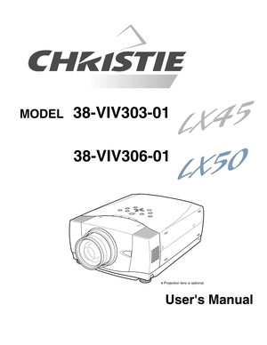 Christie Digital Systems Lx45, Lx50 Users Manual