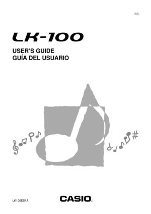 Casio Lk100 Owners Manual