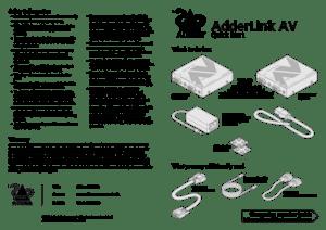 ADDERLink AV200 Quick Start