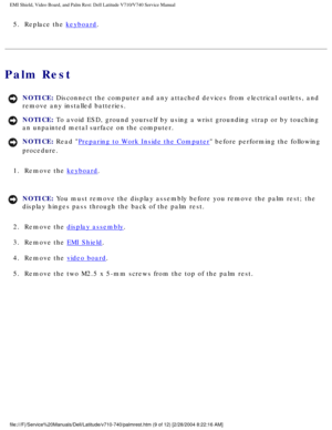dell latitude v710 v740 User Manual
