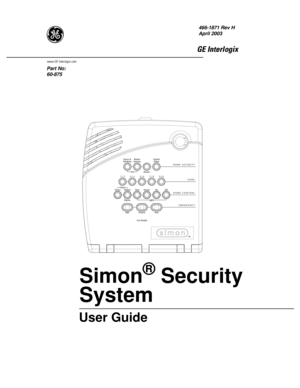ADT Security Services Simon 3 Owner Manual