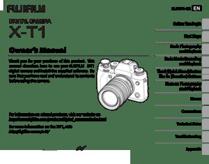 Fujifilm Camera X T1 Owners Manual