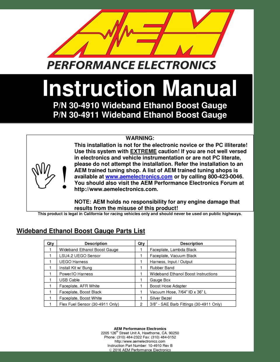medium resolution of page 1 aem performance electronics 2205 126th street unit a hawthorne ca 90250
