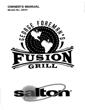George Foreman Fusion Grill GR70 User Manual