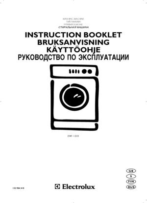 Electrolux Ewi 1235 Instruction Booklet
