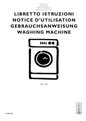 Electrolux Ews 1030 Instruction Booklet
