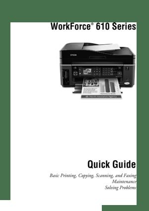 Epson WorkForce 610 User Manual