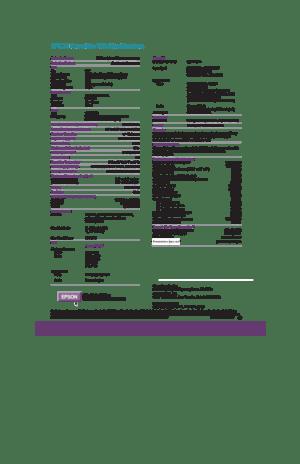 Epson Powerlite 730c Specifications