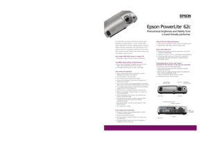 Epson Powerlite 62c Specifications